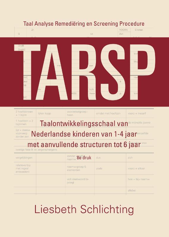 Cover TARSP - Taal Analyse Remediëring en Screening Procedure