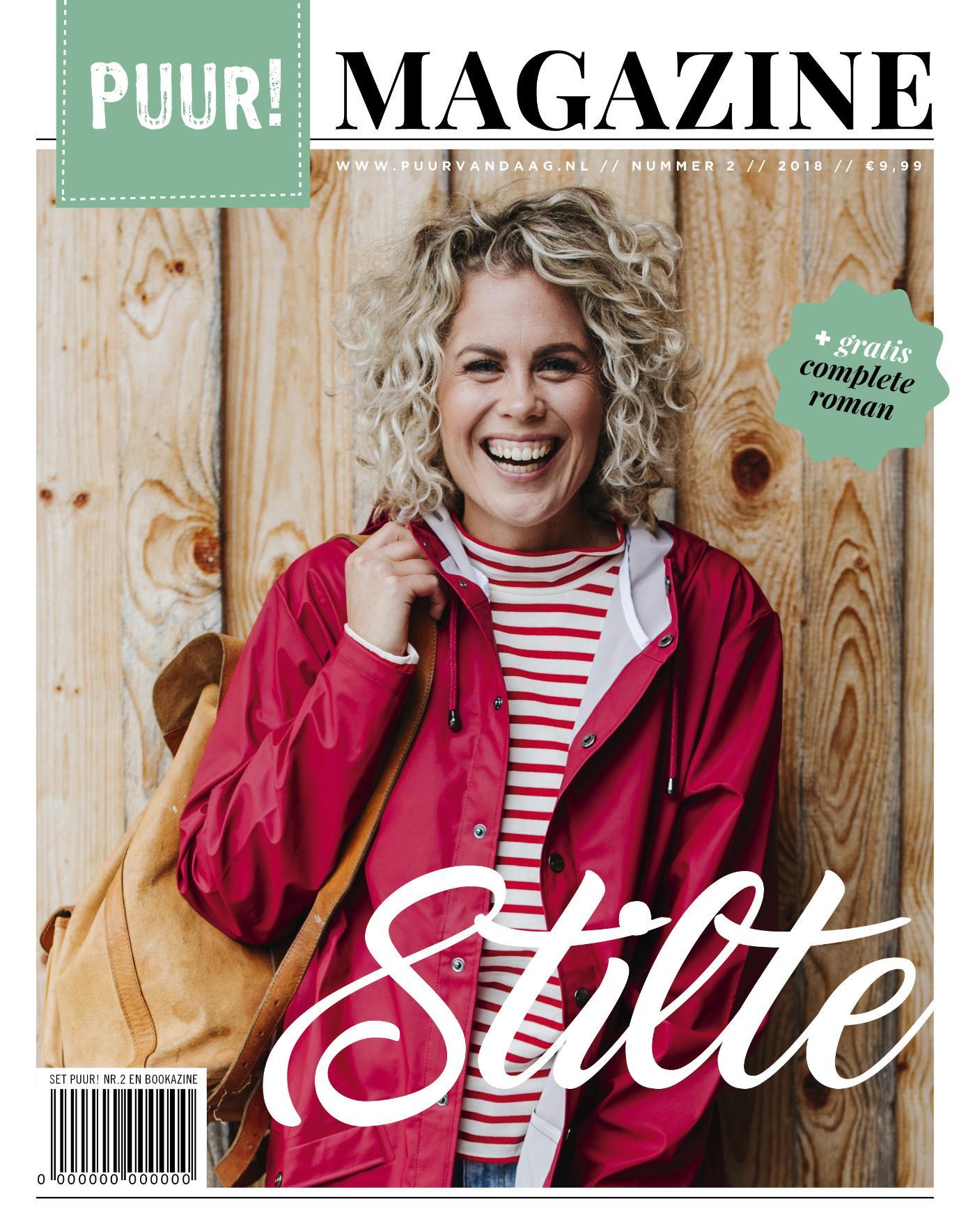 Cover PUUR! Magazine, nr. 2- 2018, incl. Bookazine