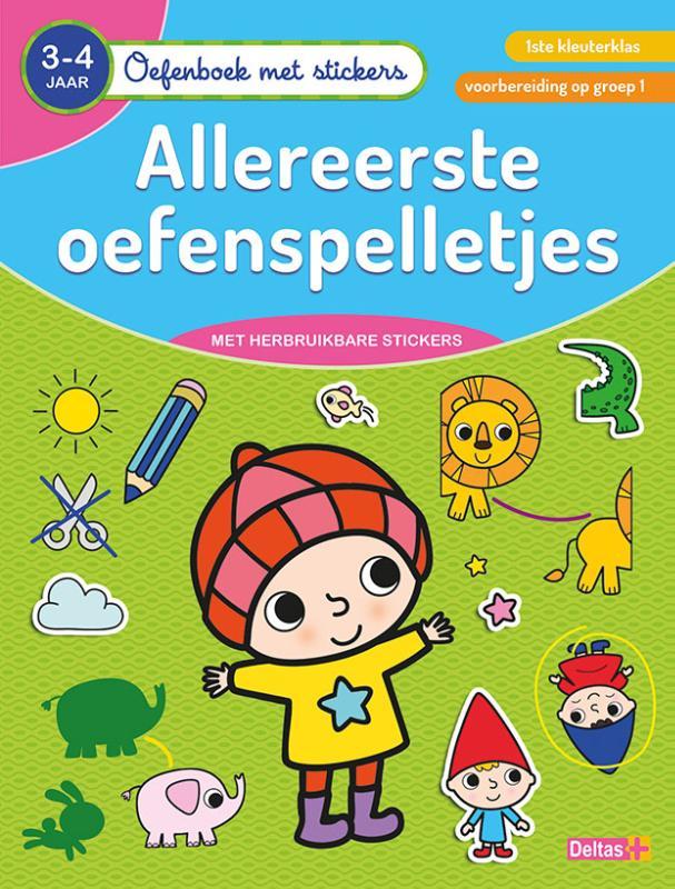 Cover Oefenboek met stickers - Allereerste oefenspelletjes (3-4 j.)