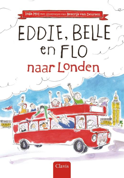 Cover Eddie, Belle en Flo naar Londen