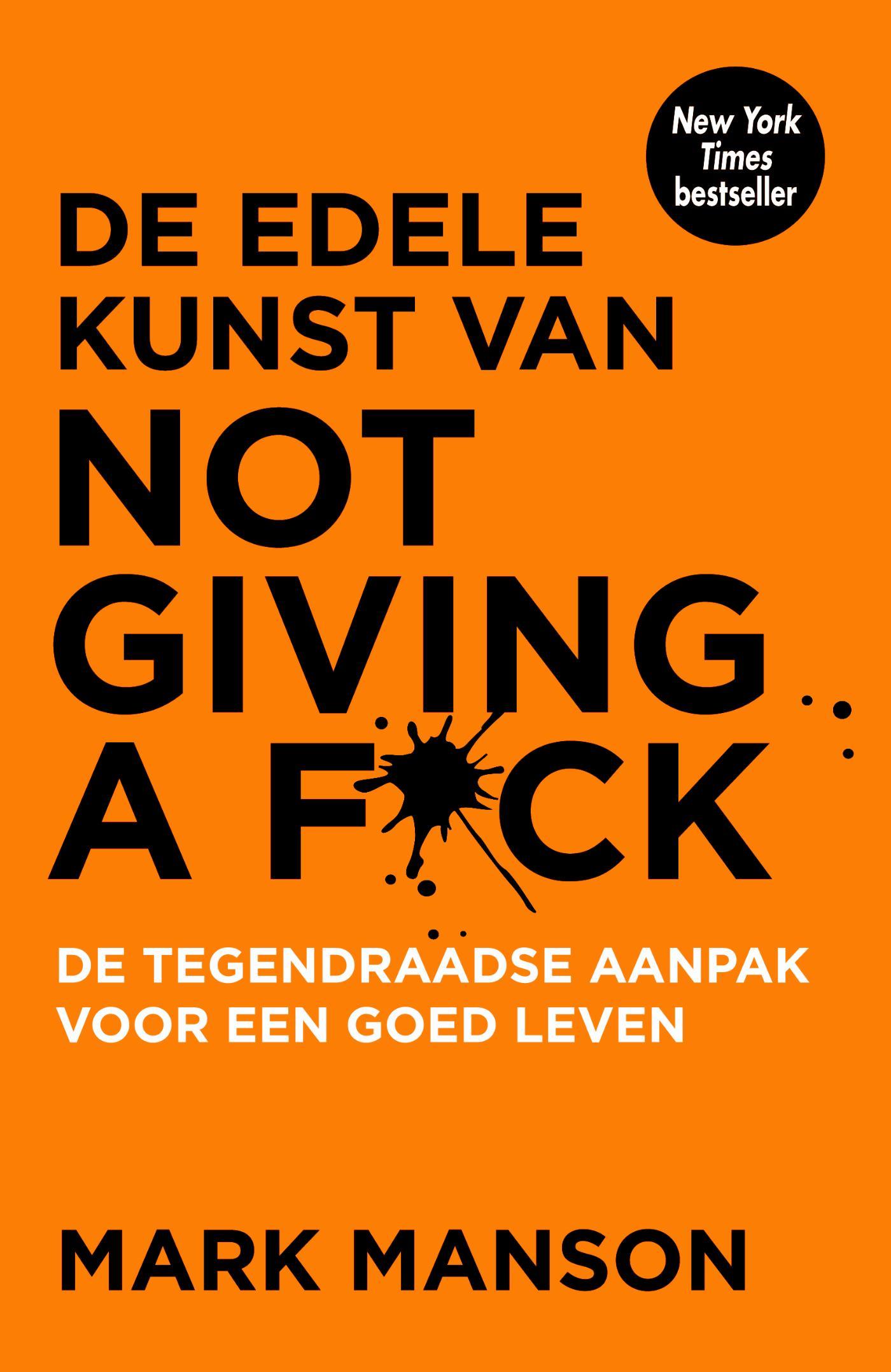 Cover De edele kunst van not giving a f*ck
