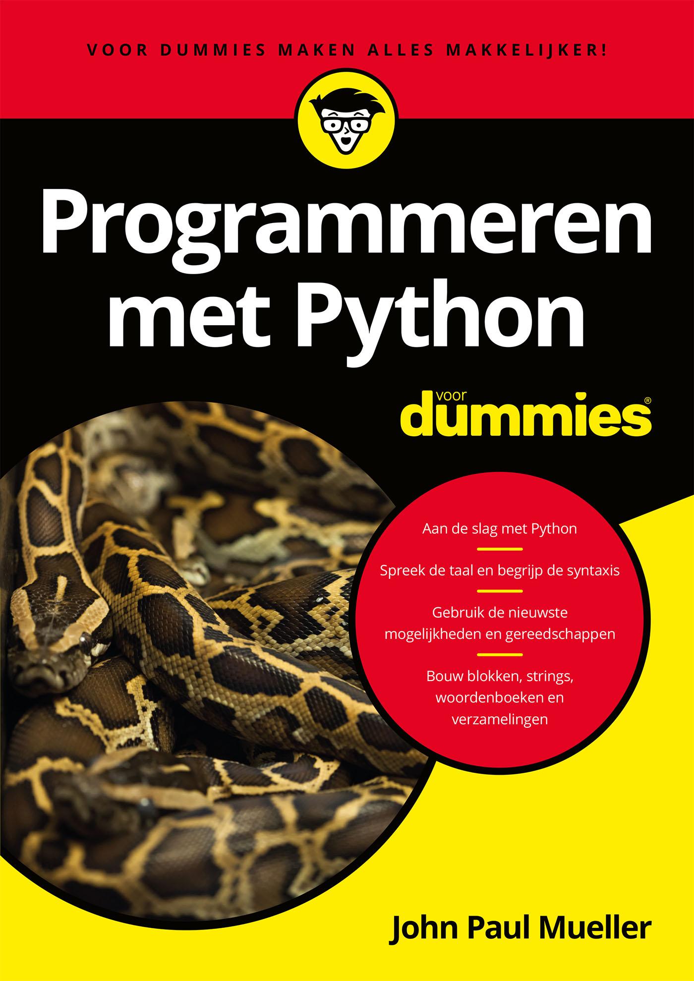 Cover Programmeren met Python voor Dummies