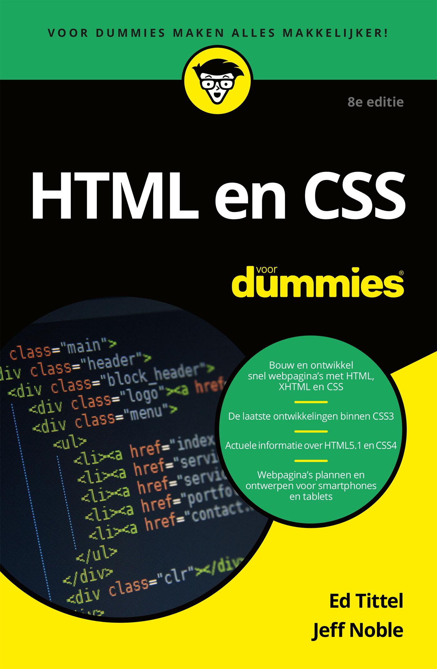 Cover HTML en CSS voor Dummies