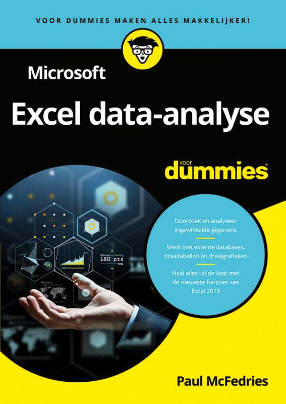 Cover Microsoft Excel data-analyse voor Dummies