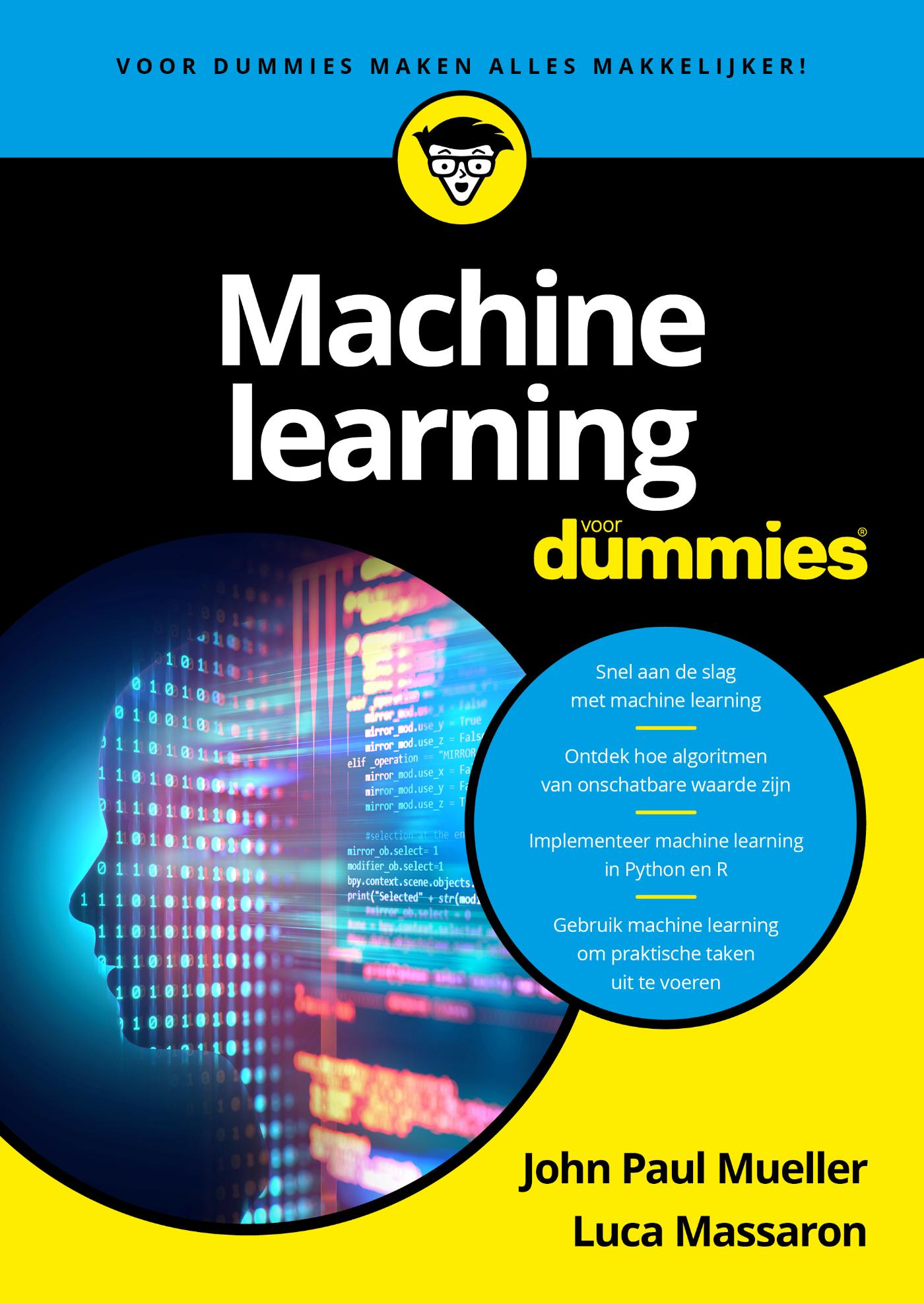 Cover Machine Learning voor Dummies