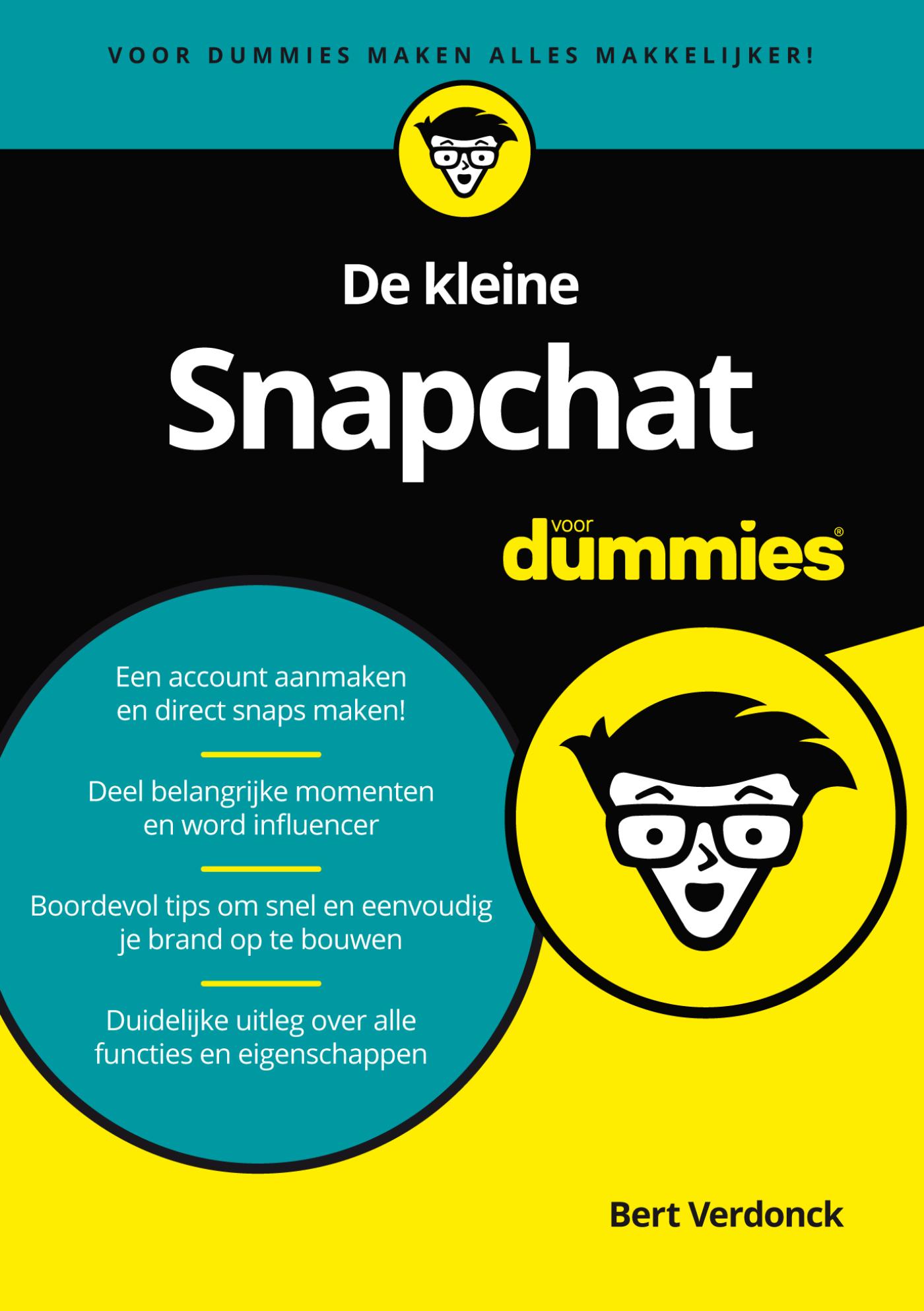 Cover De kleine Snapchat voor Dummies