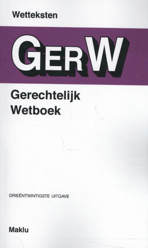 Cover Gerechtelijk wetboek