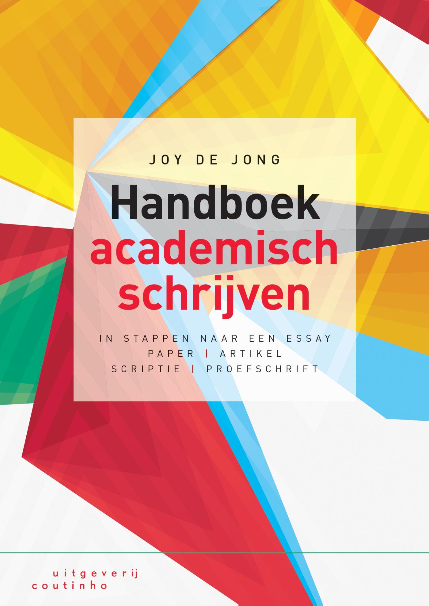 Cover Handboek academisch schrijven