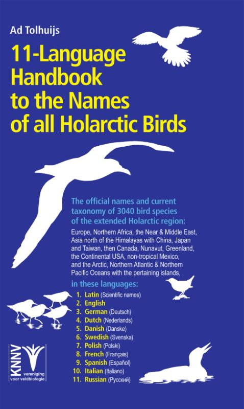 Cover 11-language Handbook to the Names of all Holarctic Birds