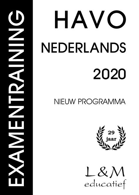 Cover Examentraining Havo Nederlands 2020