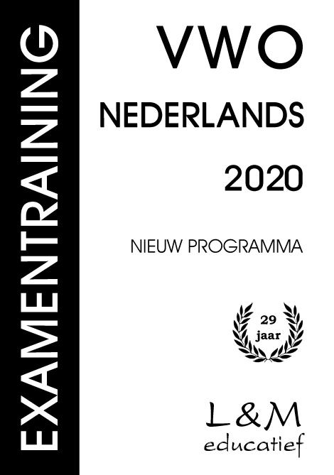 Cover Examentraining Vwo Nederlands 2020