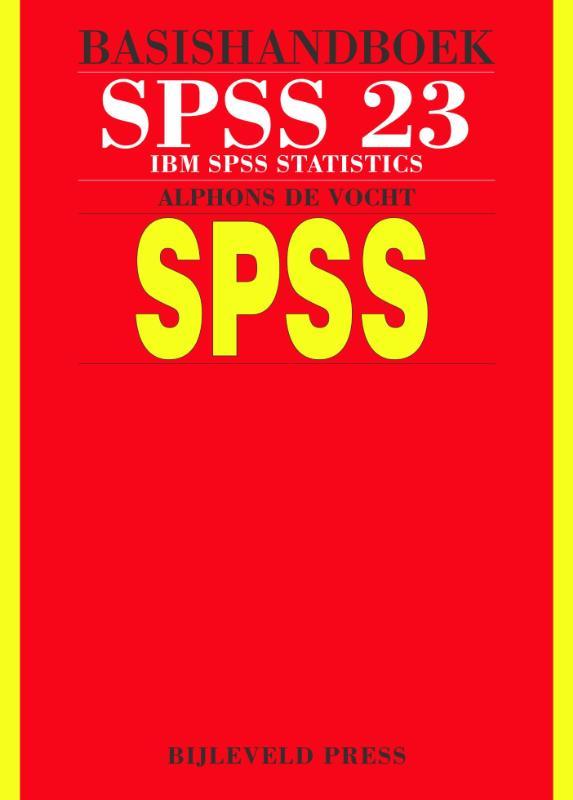 Cover Basishandboek SPSS 23
