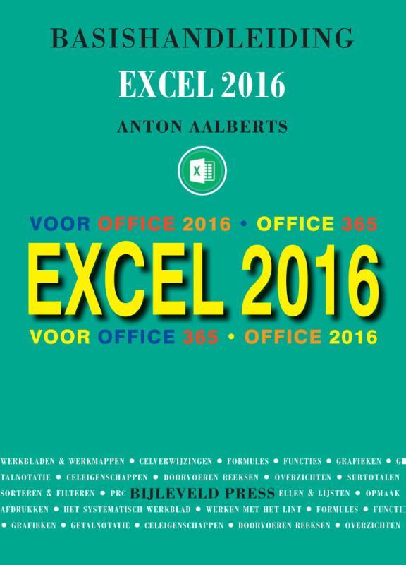Cover Basishandleiding Excel 2016