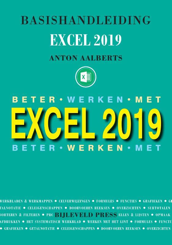 Cover Basishandleiding beter werken met excel 2019