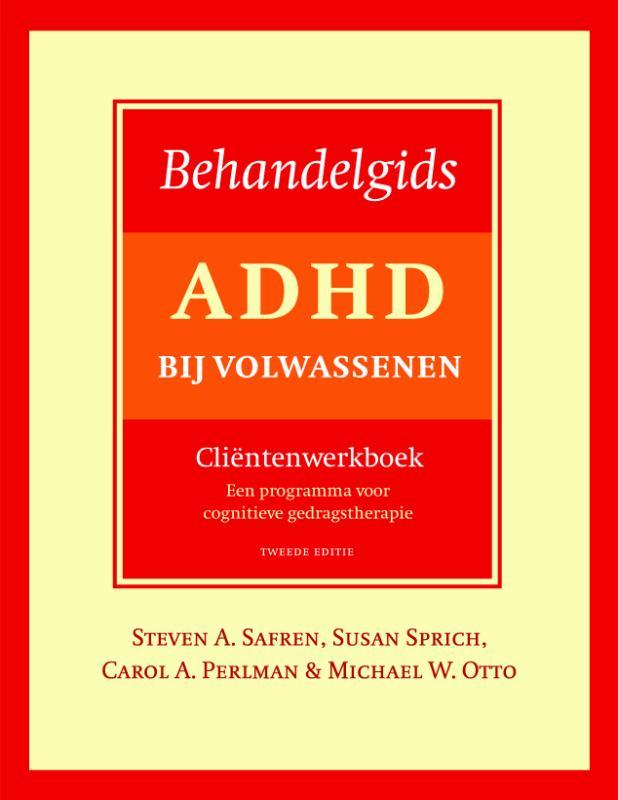 Cover Behandelgids ADHD bij volwassenen, cliëntenwerkboek - tweede editie