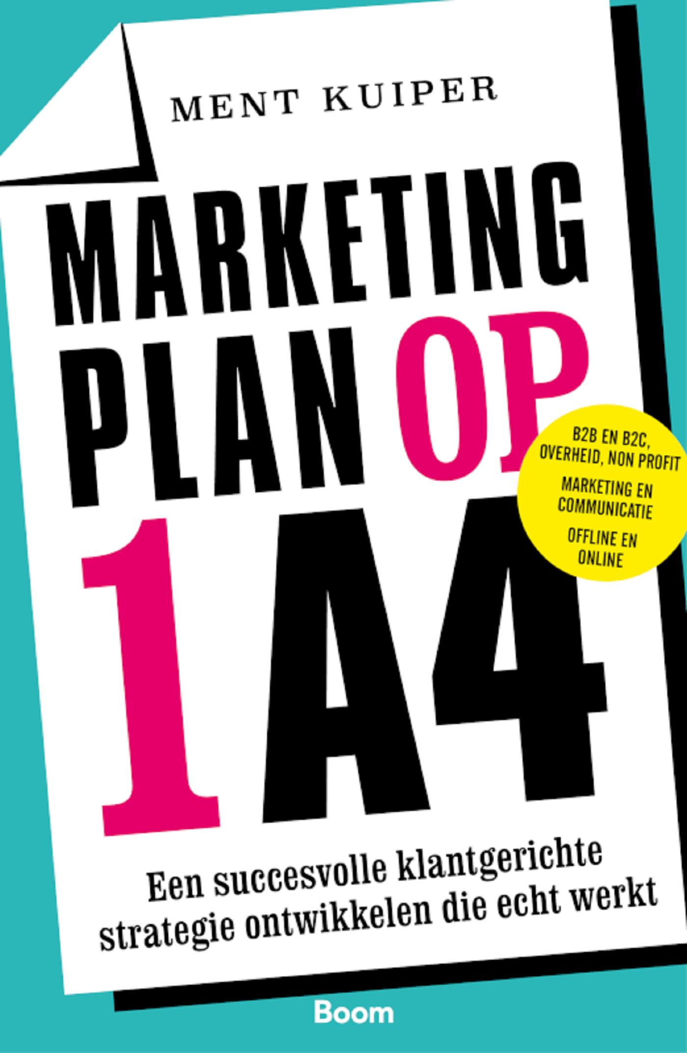 Cover Marketingplan op 1 A4