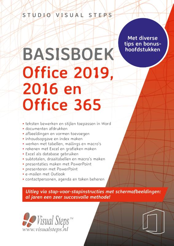 Cover Basisboek Office 2019, 2016 en Office 365