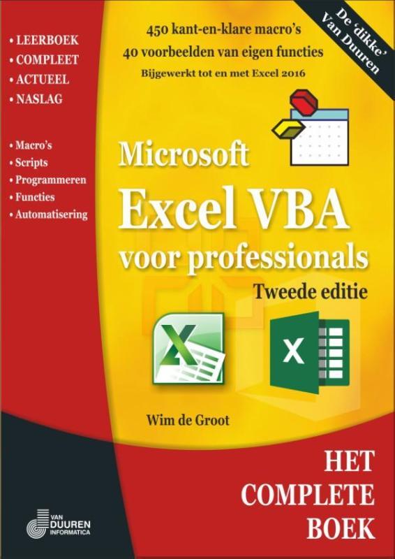 Cover Excel VBA voor professionals