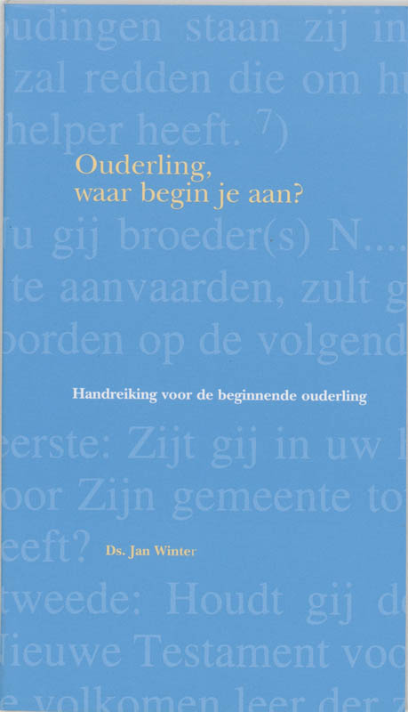Cover Ouderling, waar begin je aan?