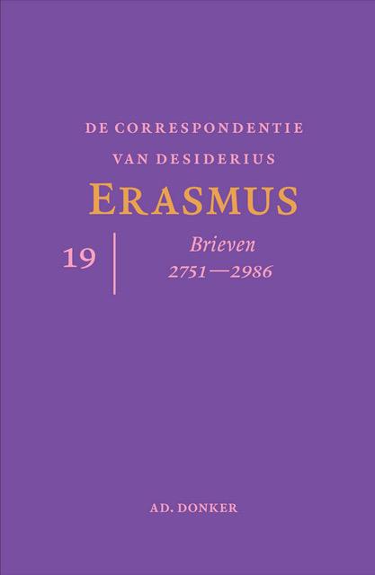 Cover De correspondentie van Desiderius Erasmus deel 19