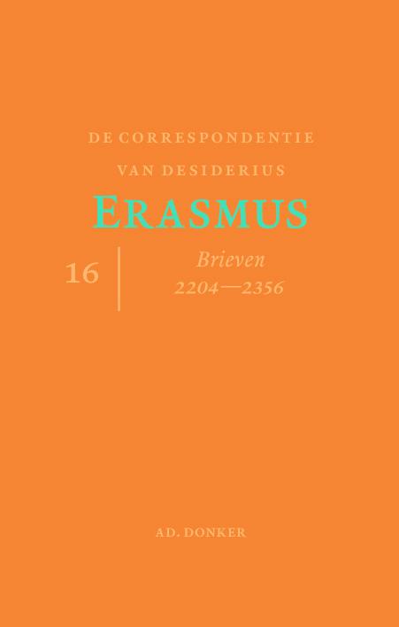 Cover De correspondentie van Desiderius Erasmus