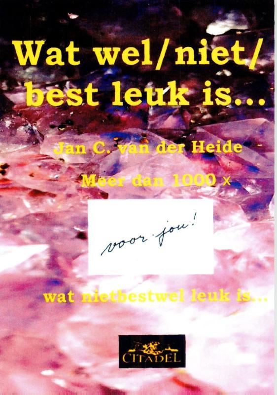 Cover Wat wel/ niet/ best leuk is...