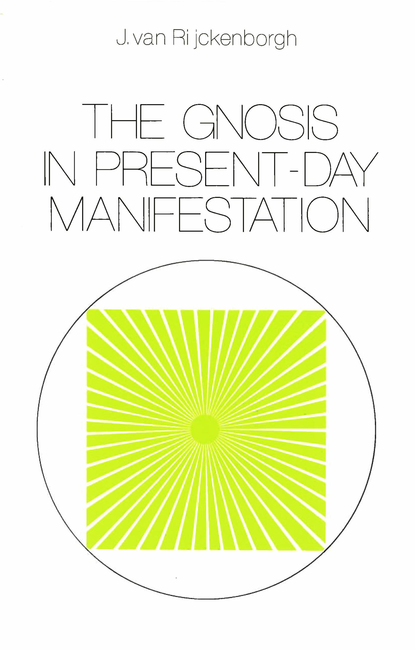 Cover The Gnosis in Present-day Manifestation