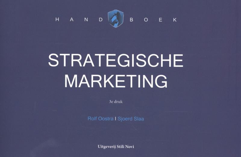 Cover Handboek strategische marketing