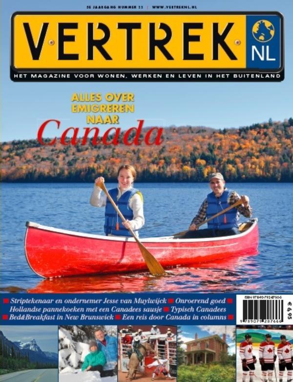 Cover VertrekNL 22 - Alles over emigreren naar Canada