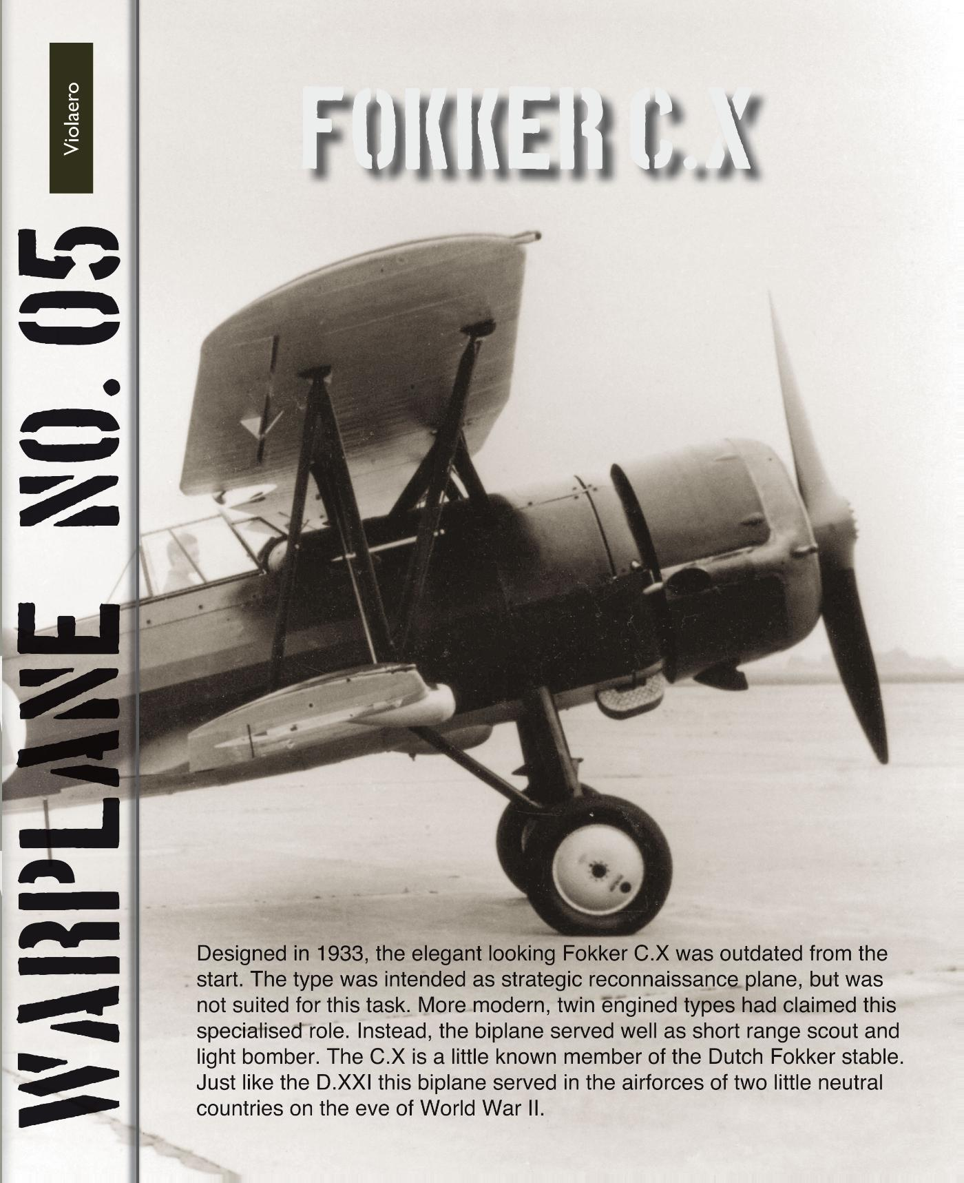 Cover Fokker C.X