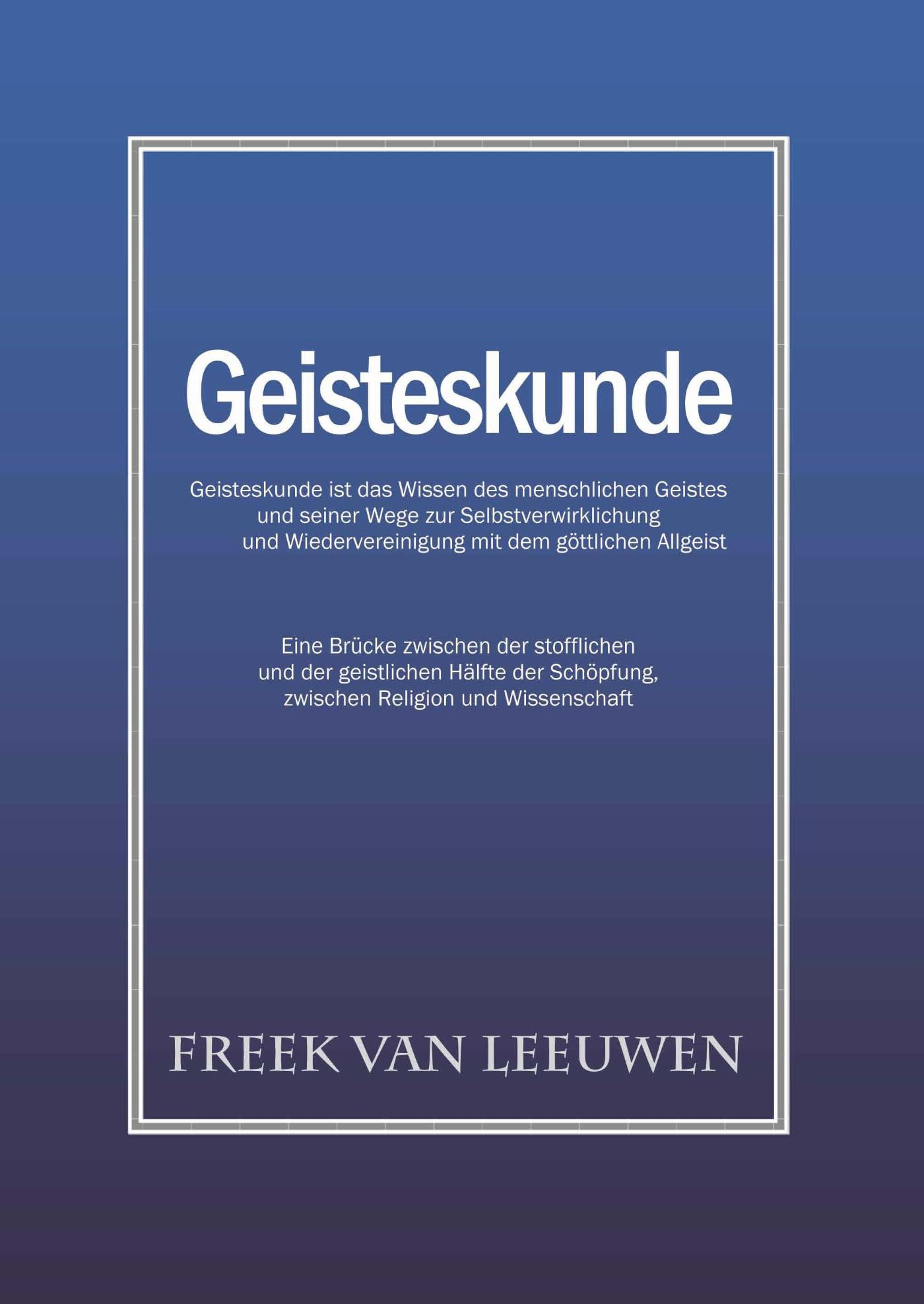 Cover Geisteskunde