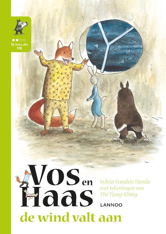 Cover Ik leer lezen met Vos en Haas - Ik lees als Uil - De wind valt aan