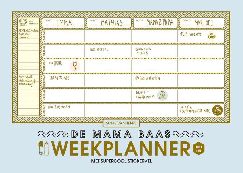 Cover De mama baas weekplanner