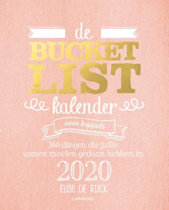 Cover De bucketlistkalender voor koppels 2020
