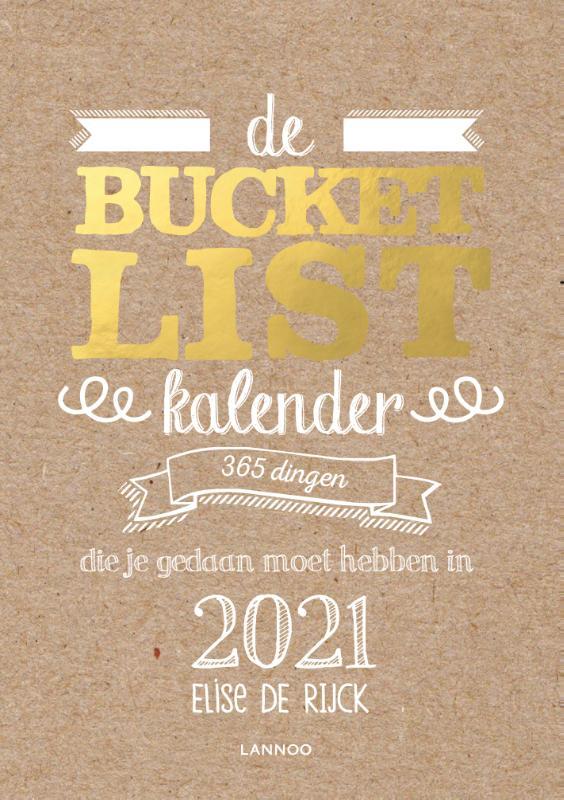 Cover De Bucketlist scheurkalender 2021
