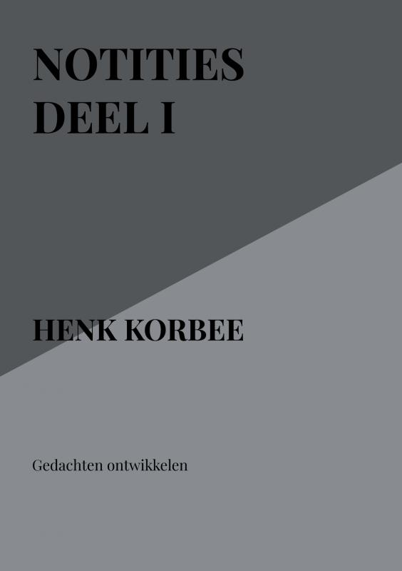 Cover Notities deel I