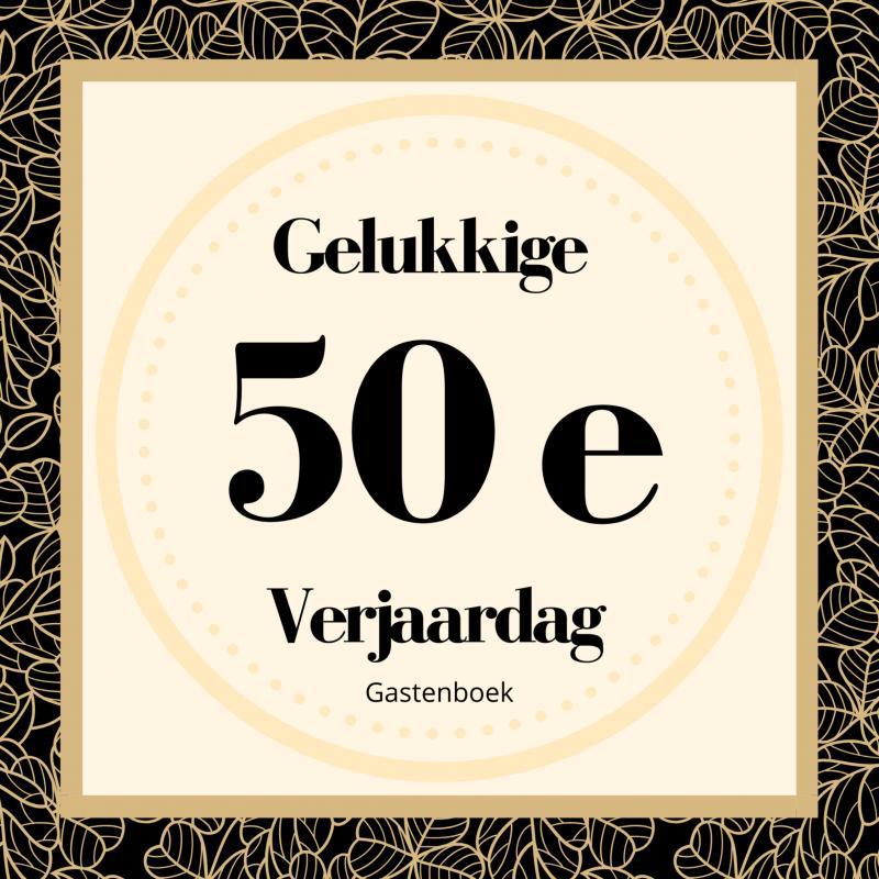Uitgelezene Gelukkige 50e Verjaardag Gastenboek - Geschreven door - Boek QY-01