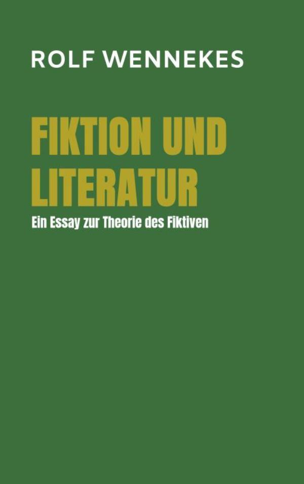 Cover Fiktion und Literatur