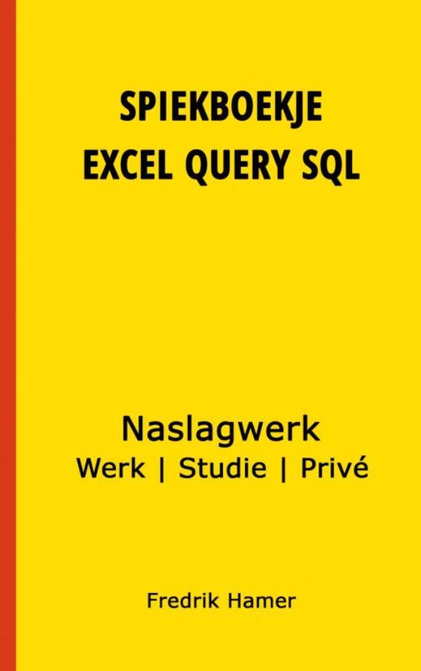 Cover Spiekboekje Excel Query SQL