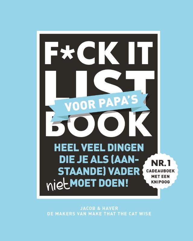 Cover F*ck it list Book voor papa's