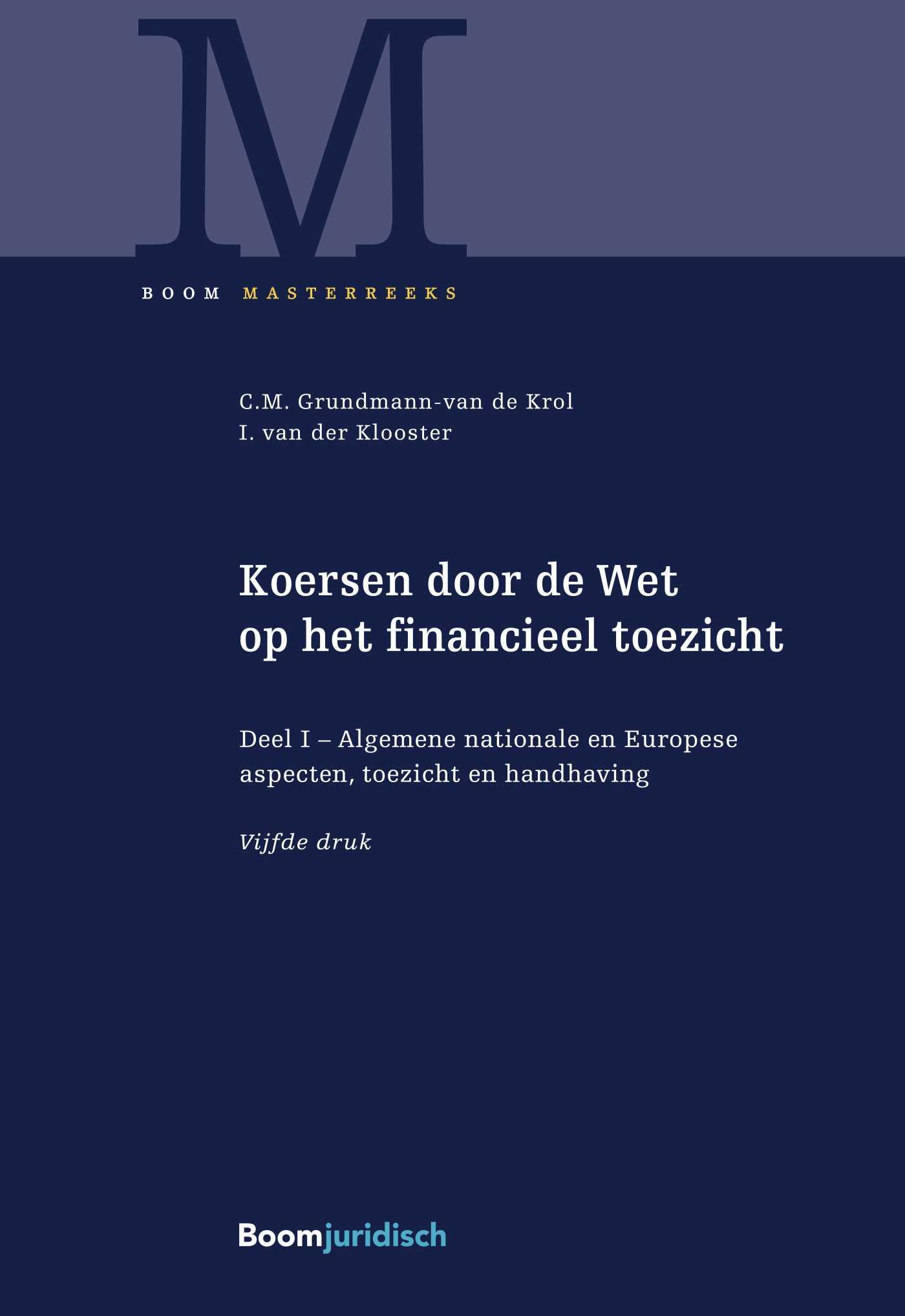 Cover 1 Algemene nationale en Europese aspecten, toezicht en handhaving