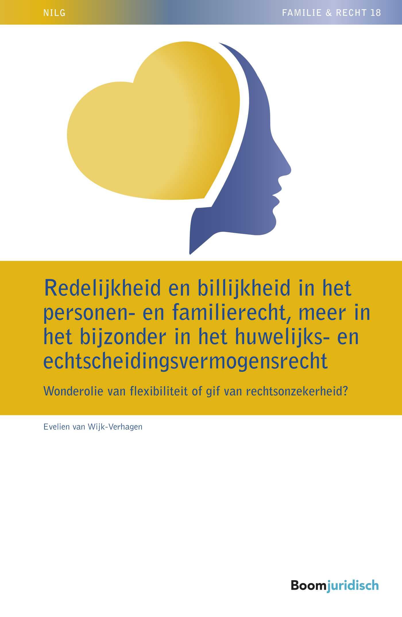 Cover Redelijkheid en billijkheid in het personen- en familierecht, meer in het bijzonder in het huwelijks- en echtscheidingsvermogensrecht