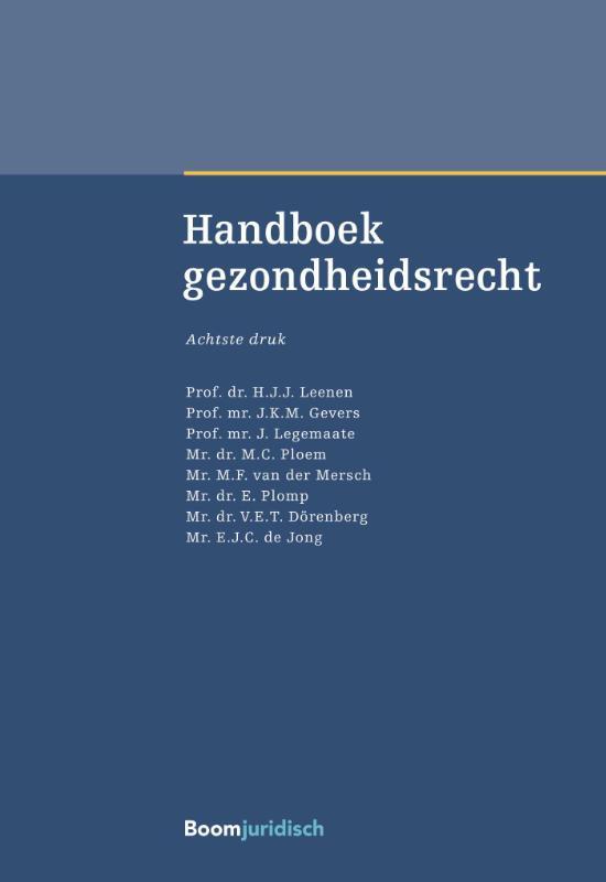 Cover Handboek gezondheidsrecht