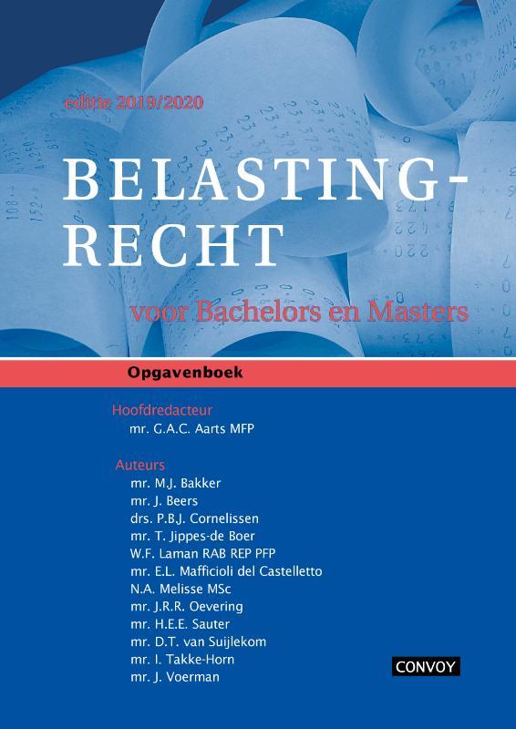 Cover Belastingrecht Bachelors Masters 2019-2020