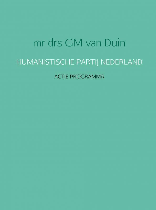 Cover HUMANISTISCHE PARTIJ NEDERLAND