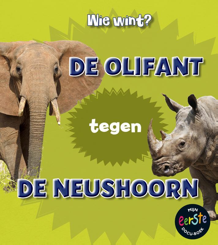 Cover De olifant tegen de neushoorn
