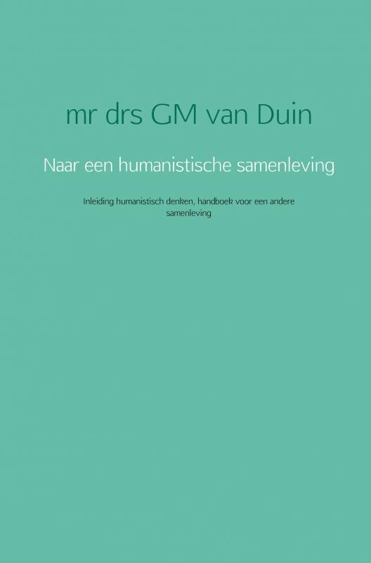 Cover Naar een humanistische samenleving