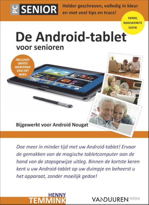 Cover De Android tablet voor senioren