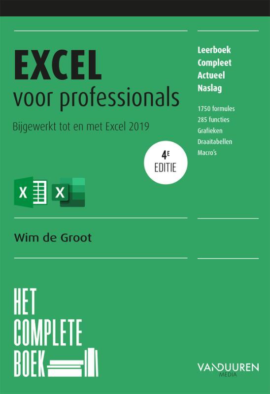 Cover Het complete boek Excel voor professionals, 4e editie