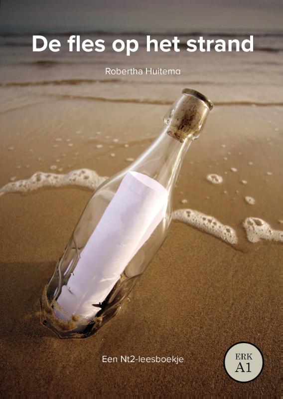 Cover De fles op het strand